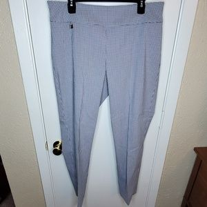 Blue/White Checked To Ankle Peck & Peck Pants